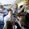 Secretary-General Ban Ki-moon briefs media en route to Sri Lanka on 22 May 2009