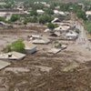 Coulées de boue dues à des inondations au Tadjikistan en 2009.