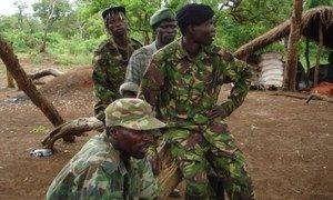 Des combattants de la LRA.
