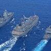 Des navires de la composante maritime de la FINUL au large du Liban.