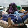 Une famille déplacée en Somalie.