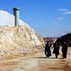A Ramallah, en Cisjordanie, le mur séparant Israéliens et Palestiniens.