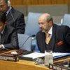 Lamberto Zannier (right), Special Representative of the Secretary-General for Kosovo addresses Security Council