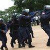 Une unité de la police nationale du Libéria.