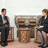 UNICEF Executive Director Ann M. Veneman meeting President Bashar Al Assad of Syria