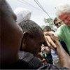 L'Envoyé spécial de l'ONU pour Haïti, Bill Clinton, lors d'une visite dans ce pays en 2009.