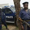 Des officiers de la Police Nationale Congolaise en patrouille dans le Nord Kivu, en République démocratique du Congo.