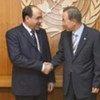 Le Secrétaire général de l'ONU Ban Ki-moon (à droite) avec le Premier ministre iraquien Nouri Al-Maliki en 2009.