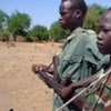 Child soldiers at a military camp in Nyal, southern Sudan in April 2005.