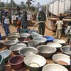 UNOCI troops distribute water to villagers in Bouaké