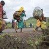 Des civils fuyant les rebelles de la LRA en RDC (juillet 2009).
