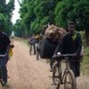 Civilians fleeing after the Lord's Resistance Army destroyed homes and schools in northeastern DRC