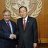 President Jalal Talabani of Iraq with Secretary-General Ban Ki-moon