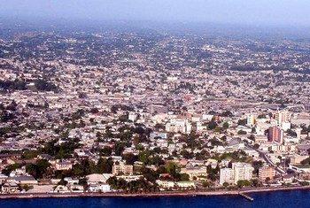 Vue aérienne de Libreville, la capitale du Gabon.