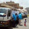 A UNICEF aid convey in Yemen
