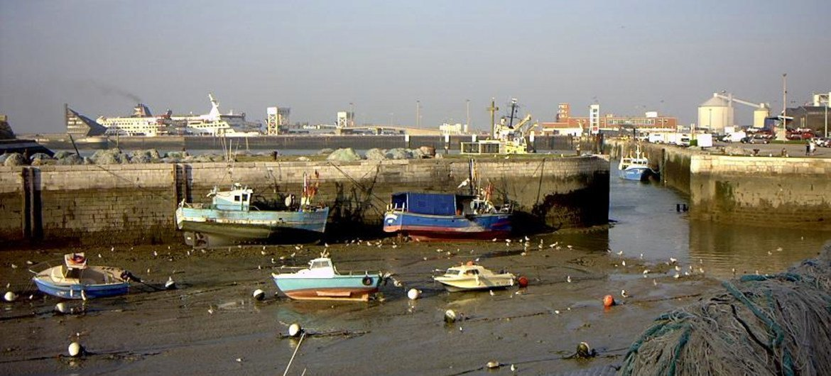 The French port of Calais