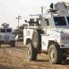 Un convoi de la MINUAD au Darfour.