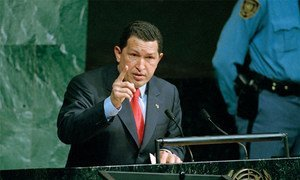 Le Président du Venezuela Hugo Chavez. Photo ONU/Susan Markisz