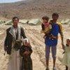 Des civils déplacés par les combats au Yémen.