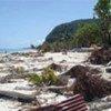 A strong earthquake triggered tsunami waves on 29 September 2009 in Samoa, American Samoa and Niuatoputapu, Tonga, pictured here.