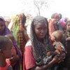 Des déplacés somaliens dans un camp près de la frontière du Kenya.