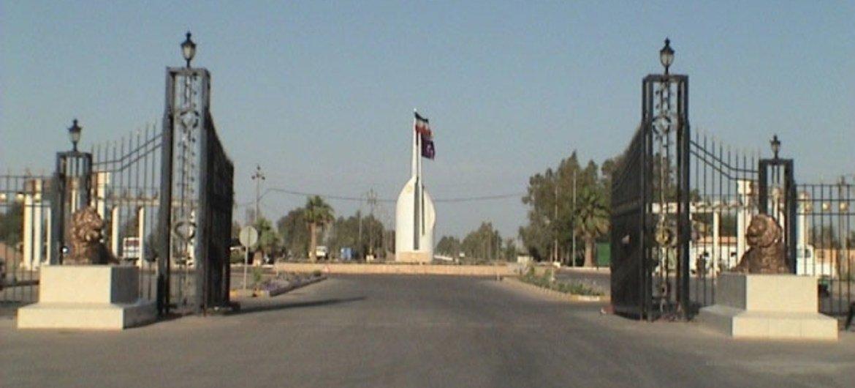 L'entrée du Camp Ashraf, en Iraq.