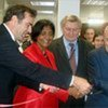 UN Human Rights Chief, Navi Pillay, and other officials, cut ribbon at opening ceremony