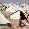 A sea of tents in a camp for the internally displaced in northern Pakistan