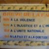 Banderole d'un mouvement de jeunes qui a appelé à une grève de la faim en Guinée.