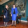 UNDP Administrator Helen Clark (right) with President Michelle Bachelet of Chile