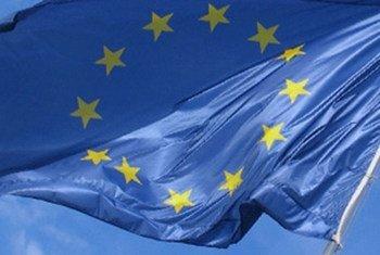 Drapeau de l'Union européenne.