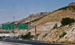 Colonie israélienne près de Jérusalem.