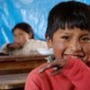 A beneficiary of  WFP's school meals programme in Bolivia