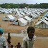Scene from a camp in Vavuniya, Sri Lanka