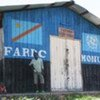 A military rations warehouse at the MONUC training facility in South Kivu, DRC