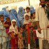Afghan returnees from the Jalozai refugee camp in Pakistan at the UNHCR transit centre in Jalalabad