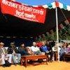 Cérémonie de démobilisation d'anciens soldats maoïstes au Népal.