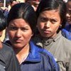 Child soldiers who have been officially delisted from the Maoist army in Nepal