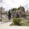 Le palais de justice haïtien endommagé par le séisme.