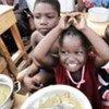 Niños desplazados en Jacmel