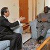 Special Representative for Côte d'Ivoire, Y J Choi (left) with the President of the PDCI Henri Konan Bédié