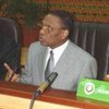 Le Président du Niger, Mamadou Tandja (à gauche), renversé par des putschistes.