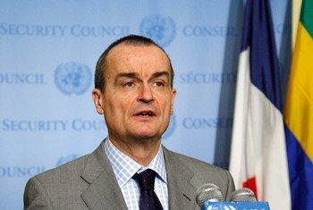 Security Council President, Ambassador Gérard Araud of France.