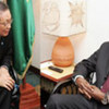 Secretary-General's Special Representative for Côte d'Ivoire Y. J. Choi with President Blaise Compaore of Burkina Faso