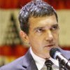L'acteur Antonio Banderas au siège de l'ONU en 2009.