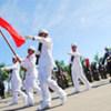 Parade de la police nationale du Timor-Leste.