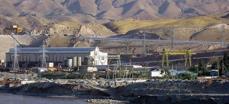 A hydroelectric power plant in Tajikistan.