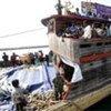 Un bateau transportant des demandeurs d'asile sri-lankais dans les eaux indonésiennes.