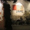 Re-creation of a French wall during the Second World War at the Museum for Peace in Caen