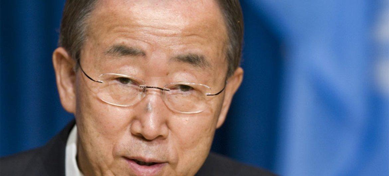 Ban Ki-moon en la sede de la ONU en Nueva York. Foto de archivo: ONU/Mark Garte